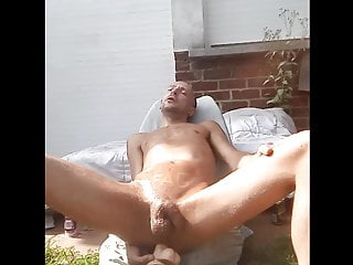 سکس گی Skinny gay amateur masturbating full nude with a dildo sex toy  outdoor  masturbation  hd videos amateur