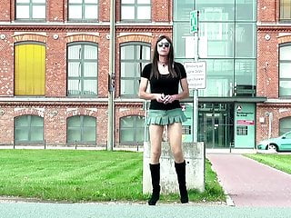سکس گی Sexy CD goes outside - TGirl wears short dress and boots webcam  outdoor  hd videos crossdresser  bdsm  amateur