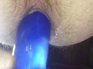 سکس گی Playing with My New Blue Dong Again spanking  sex toy masturbation  hd videos anal